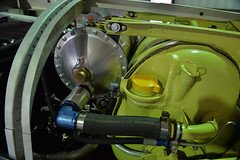Oil Cooler Detail (Chris Usrey) Tags: douglas ga airport p82 twin mustang restoration aviation flying