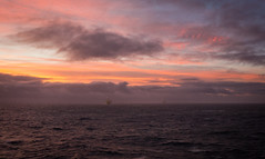 The North Sea ([ Jaso ]) Tags: rx100 sunset seascape oil rig offshore energy oilandgas northsea clouds sea red orange glow