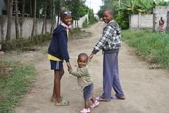 Daniel, Junior en Reggie op wandel