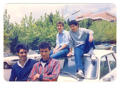 Students in Parking Lot of Shahid Beheshti University, Tehran, Iran (Persia), May 1985 (eshare) Tags: persian iran persia scan iranian tehran eighties 1980s 1985 scannedphoto  iranians teheran persians   schoolofdentistry 1364 facultyofinformatics   nationaluniversityofirannui shahidbeheshtiuniversitysbu shahidbeheshtiuniversity  nationaluniversityofiran  raminshoraka      kamrankamkari behzadlajevardi sohrabghaffarihaghi farshadfatin