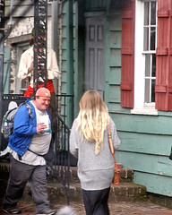 Hello (fillzees) Tags: street people woman house man person candid strangers tourist tele