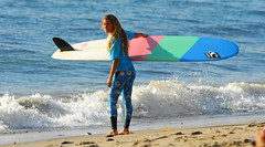 TAYLOR BRUYNZEEL (Tim Hanson-) Tags: ocean beach water sport sand women surf waves pacific surfer contest competition surfing malibu professional pacificocean longboard surfriderbeach missmalibupro outsideseaside