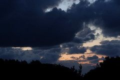 Storm clouds at sunset, 1 (Les Fisher) Tags: sunset clouds stormclouds