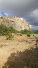 Hiking out to Inscription Rock at El Morro