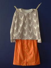 Dottie and Buck Hopscotch (lkollett) Tags: top sewing skirt hopscotch fo olivers knitfabric