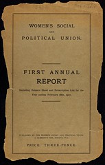 First Annual Report of the WSPU, 1907.