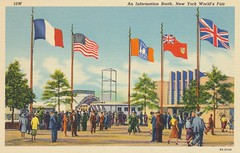 An Information Booth - 1939 New York World's Fair (The Cardboard America Archives) Tags: newyork vintage postcard pavilion 1939 worldsfair