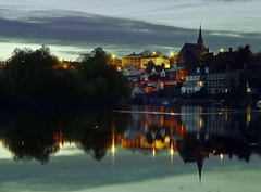 River Dee Chester (Lee1885) Tags: reflection water night river dark nikon chester dee