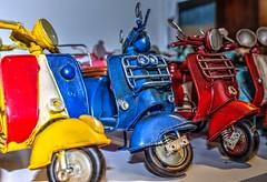 Vespa scooters (theseustroizinian) Tags: macro closeup vespa scooter byke