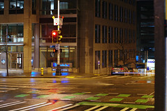 Second Avenue at night. (YLev) Tags: seattle city streets rain night lights pentax nightlife k7