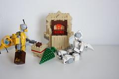 Merry Xmas 2015 !(4) (Loysnuva) Tags: christmas xmas tree fireplace lego system mecha mocs moc loys nuva icya bionifigs loysnuva mihibot bizibot