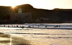 La Cicer, Las Canteras (aleguandra) Tags: las sunset sea espaa sun beach atardecer la mar sand surf playa canarias gran islas canaria canteras cicer canteras29diciembre