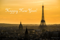 Happy New Year (Cloudwhisperer67) Tags: world new city travel light sunset summer sky urban panorama orange cloud sun mist paris france tower art love yellow electric fog skyline architecture sunrise work canon wonderful skyscape landscape happy photography gold dawn golden la town haze colorful europe flickr skies cityscape chaos tour you magic horizon year great foggy award atmosphere eiffel have merry wish lovely capture fest scape exploration incredible brume happynewyear wishing marvellous sous 2016 cloudwhisperer flickraward5 flickrawardgallery cloudwhisperer67 760d happynewyear2016