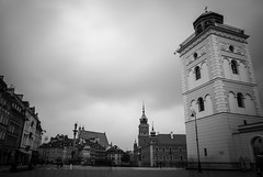 Warsaw (dressk) Tags: warsaw poland polska europe city architecture square castle church longexposure nikon d40x nikond40x blackwhite bw