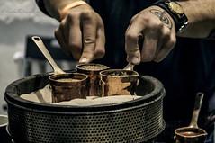 coffee on the sand (Lyutik966) Tags: coffee sand cezve drink arabica copper recipe festival degustation moscow