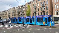 """As je nie gaat, kom je der niet"" (Peter ( phonepics only) Eijkman) Tags: amsterdam city combino gvb tram transport trams tramtracks rail rails advertise strassenbahn streetcars nederland netherlands nederlandse noordholland holland"