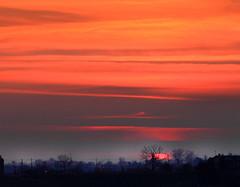 Last minute (Robyn Hooz) Tags: last minute sole dark clouds sunset orange arancio sky cielo colline collalbrigo conegliano disk