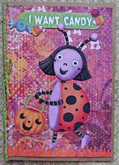 Ladybug Halloween Card (janettefuller) Tags: halloween handmadegreetingcard halloweencard ladybugs jackolantern trickortreating candy diecuts grasspunch