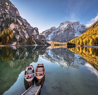 Autumn Idyll in the Dolomite Alps