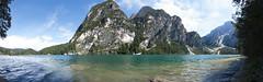 180 of Braies (Marco Micheli) Tags: lake lago water mountain montagna panorama landscape trentino alto adige dolomites tokina 1116 vista acqua estate summer