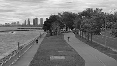 040crpshsatbwaconacol (citatus) Tags: lakeside boardwalk jogging trail jogger bicycle rider cne grounds toronto canada fall afternoon 2016 pentax k3 ii bw