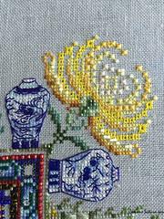 Chinese garden 71 (Sakura-san création) Tags: chinese garden mandala phoenix chine china points de croix cross stitchs martina rosenberg