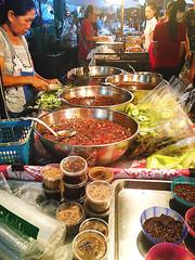 161001 Green Mangos & Dipping Sauce Vendor (Fob) Tags: october 2016 travel trip asia thailand chiangmai   food people