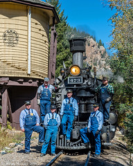 Crew shots at Needleton Tank (kdmadore) Tags: drgw denverriograndewestern durangosilverton dsng durango silverton steamlocomotive steamengine railroad train narrowgauge