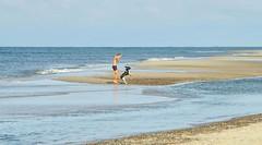 Sports in double pack - beach Nymindegab (Krnchen59) Tags: sport sports junge boy hund dog strand beach dnemark nordsee northsea urlaub krnchen59 elke krner pentax ks2 nymindegab