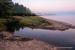 A quiet morning along Lake Superior (Thomas DeHoff) Tags: lake superior lakeshore fog morning michigan upper penisula sony a700