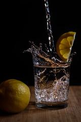 Lemon Water (rene.sprotte) Tags: food glass lemon levitation motion stilllife water