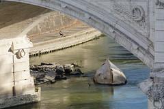 Roman Street IV (Erik Schepers) Tags: street rome roman italy italia tiber river fishing boat turned alone sitting enjoy view