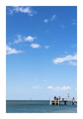Beautiful Barwon Heads (red stilletto) Tags: barwonheads barwonheadsbeach oceangrove bellarinepeninsula pier bluesky clouds