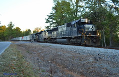 NS 2542 leads NS Train 68W in Bremen, GA (RedneckRailfan610) Tags: ns ns2542 sd70 emd god