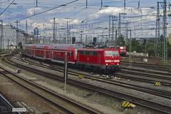 DB 111 181-4   Nrnberg Hbf (Por la va del tren) Tags: tren ferrocarril bahn train railroad railway estacion nrnberg hbf db rb locomotora 111 regional augsburg neustadt alemania deutschland germany