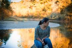 Ash - reflecting People (c.m.sturgeon) Tags: 500px young girl b beautiful female cute black hair autumn water reflection portrait canon 5d mk iii art2lifephotography cmsturgeon