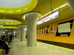Metro station in Warsaw - Świętokrzyska (transport131) Tags: infrastruktura infrastructure metro stacja station świętokrzyska warszawa warsaw