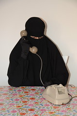 Niqab Girl on Phone (Buses,Trains and Fetish) Tags: niqab hijab burka girl chador phone