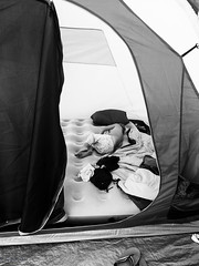 siesta ({mamisurfer}) Tags: summer camping campingworld kids bw
