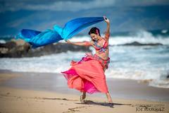 Sira the  New York Bellydancer at a Maui Beach in Hawaii _86A6157 (The Smoking Camera) Tags: nikon 105e 105mm d810 14 wideopen beach maui hawaii bellydancer bellydance veil running ocean wind sand shore photoshoot