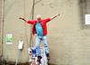 Super Michael! (Georgie_grrl) Tags: filmphotographyscavengerhunt bydowntowncamera october2016 challenges idea fun competition pentaxk1000 rikenon12828mm toronto ontario michael jumping leap actionshot supermichael midair