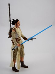 Star Wars Elite Series Rey Premium Action Figure - Disney Store Purchase - Deboxed - Freestanding - Full Left Front View (drj1828) Tags: starwars theforceawakens rey figure actionfigure purchase disneystore eliteseries premium posable 10inch deboxed freestanding