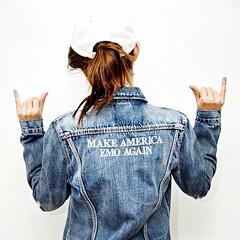 (wilk13julie@gmail.com) Tags: make america emo again punk rock thrifted tumbr denim jacket jean 90s