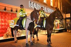 Mounted Police (R~P~M) Tags: england uk unitedkingdom greatbritain horse equine aylesbury bucks buckinghamshire night police thamesvalleypolice