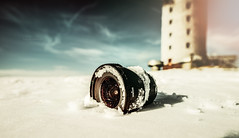 Crashed Lens (Tim RT) Tags: tim rt white crash crashed lens wide angle prime winter sun blue yellow tower fun lifestyle awesome new picture nikon nikkor 20mmf18g 20mm d810 mistake photography love outdoor still life story sigma 1020mm snow
