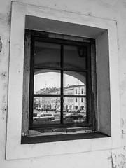 Picture in Picture (martinvaculk) Tags: czechrepublic hana kromeriz blackwhite bw reflex street