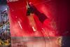 Red Bow (PAJ880) Tags: tanker sti gramercy east boston ma terminal petroleum red hull detail anchor bow markings