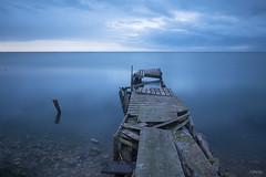 Blue (MerchePortu) Tags: delta ebro embarcadero abandono exposure