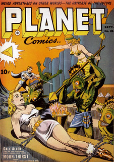 Planet Comics #26 (1943), cover by Joe Doolin
