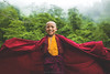 The Tibetan Monk ! (pusan_sm) Tags: monk tibetan india darjeeling green red kid smile mist clouds 2016 bangladeshi pusan shaan